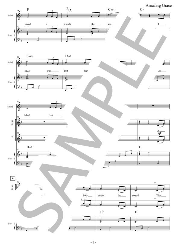 Amazing grace chorus pf 2