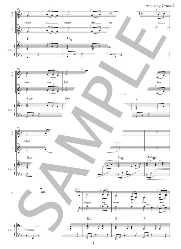 Amazing grace chorus pf 3