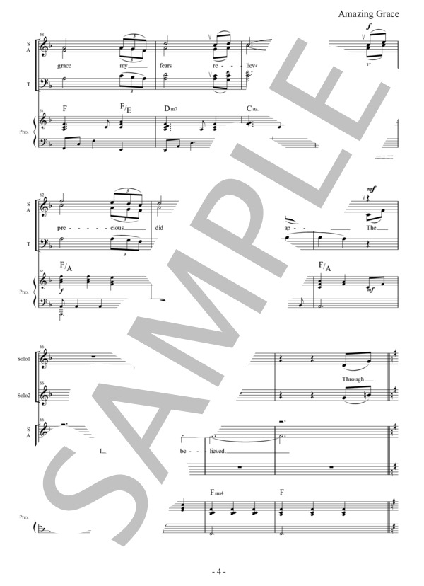 Amazing grace chorus pf 4