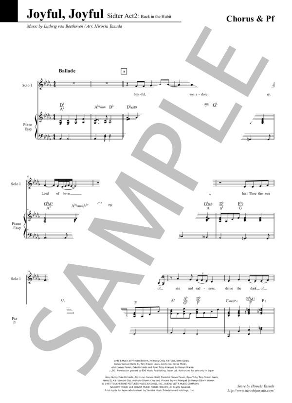 Joyful joyful chorus pf 1