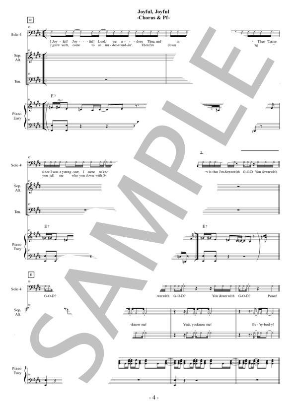 Joyful joyful chorus pf 4