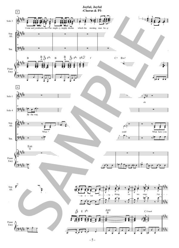 Joyful joyful chorus pf 5