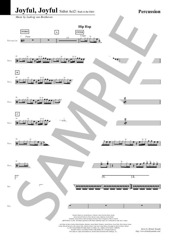 Joyful joyful percussion 1