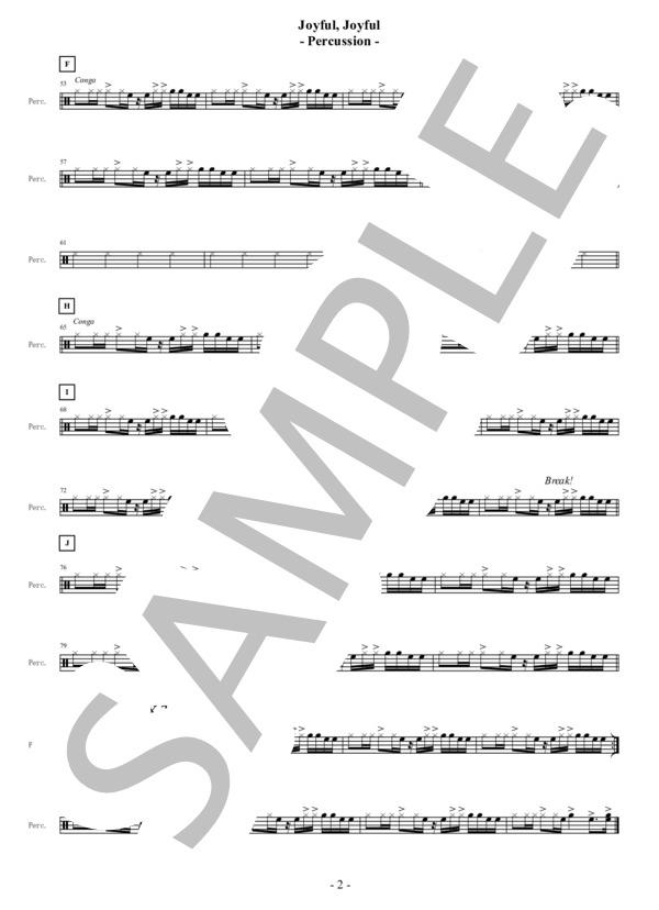 Joyful joyful percussion 2