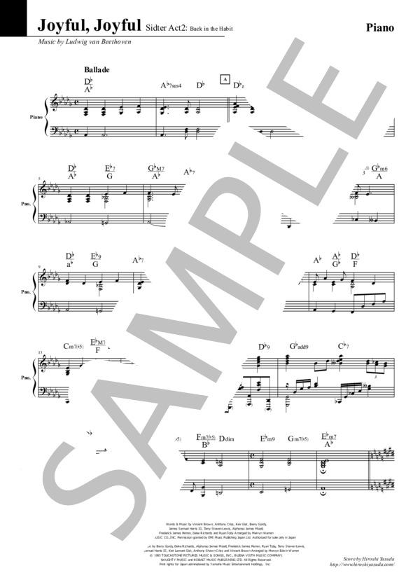 Joyful joyful piano 1