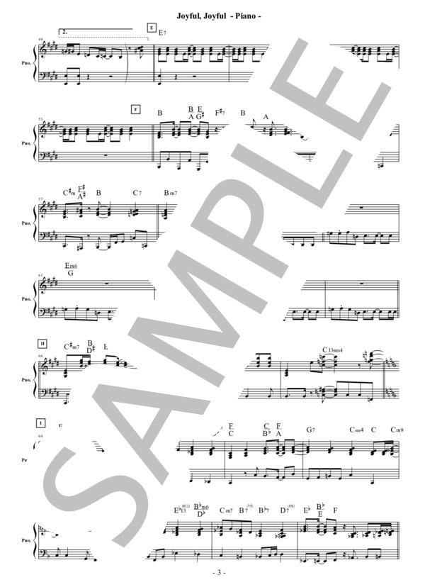 Joyful joyful piano 3
