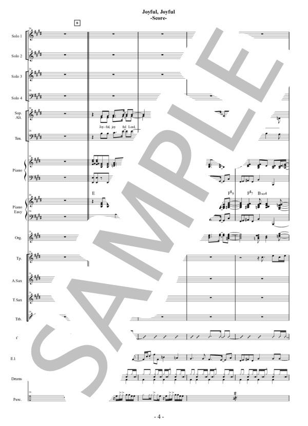 Joyful joyful score 4