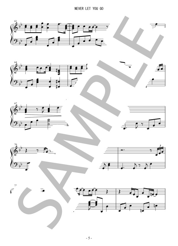 Osmb never let you go piano 5