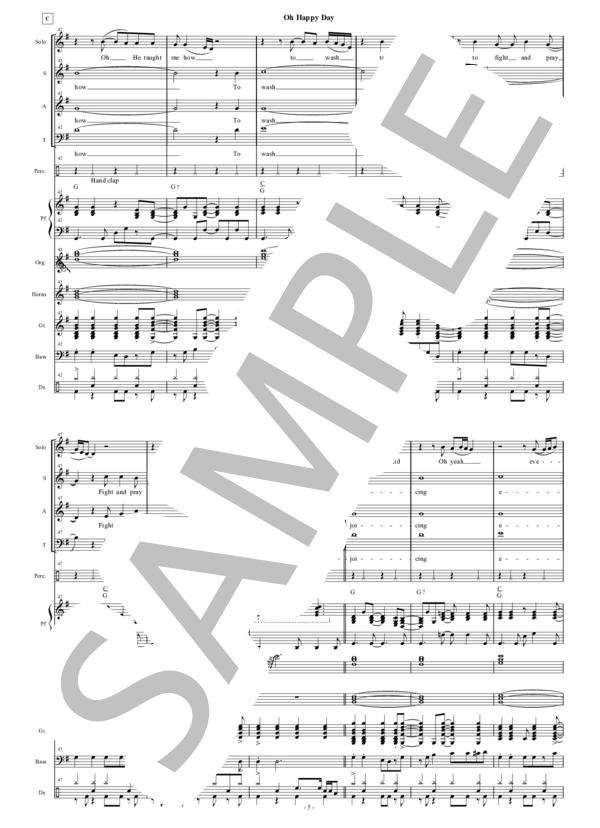 Oh happy day chorus score 5