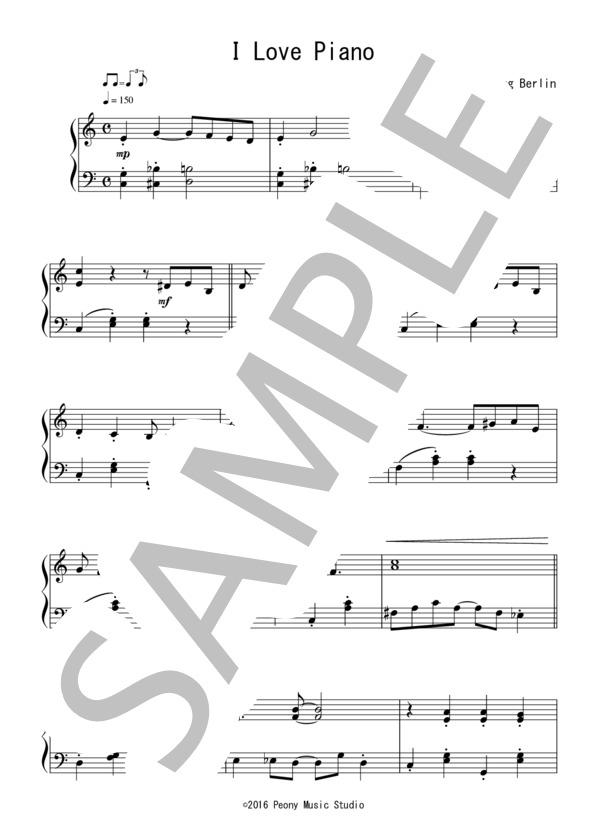 楽譜】I Love a Piano(初級):映画「イースター・パレード」OST ...
