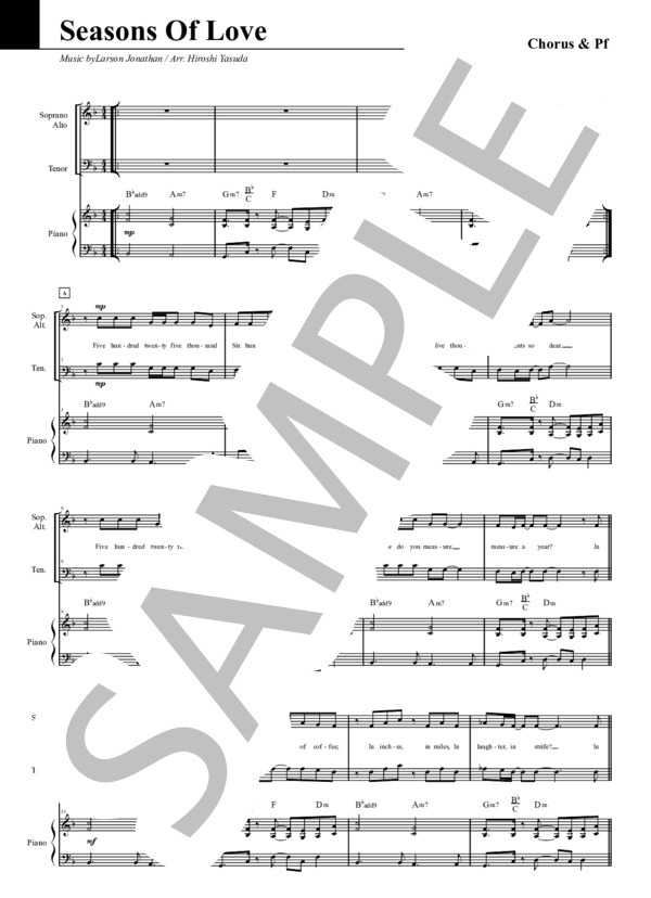 Seasons of love chorus pf 1