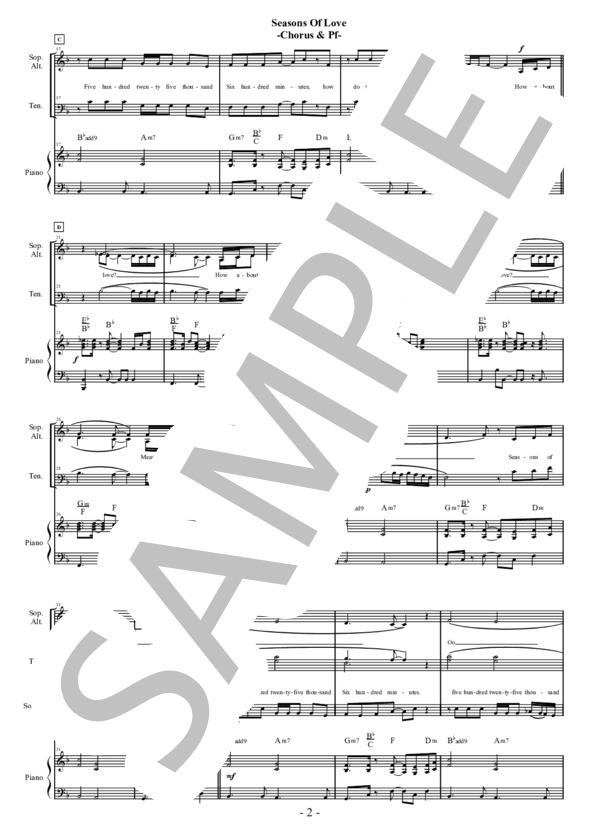 Seasons of love chorus pf 2