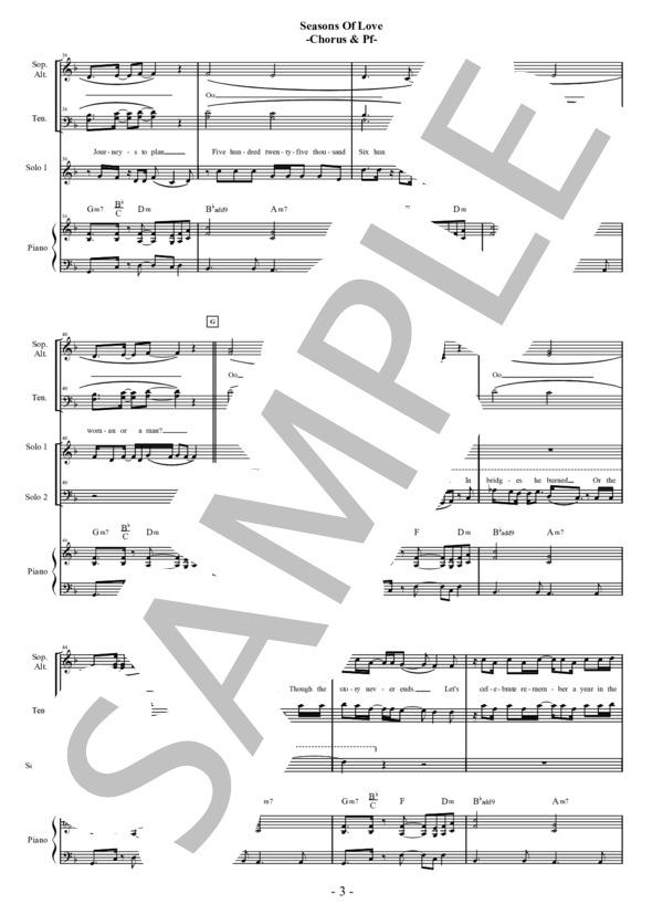 Seasons of love chorus pf 3