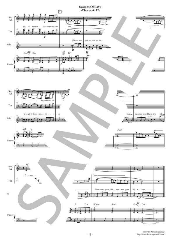 Seasons of love chorus pf 4
