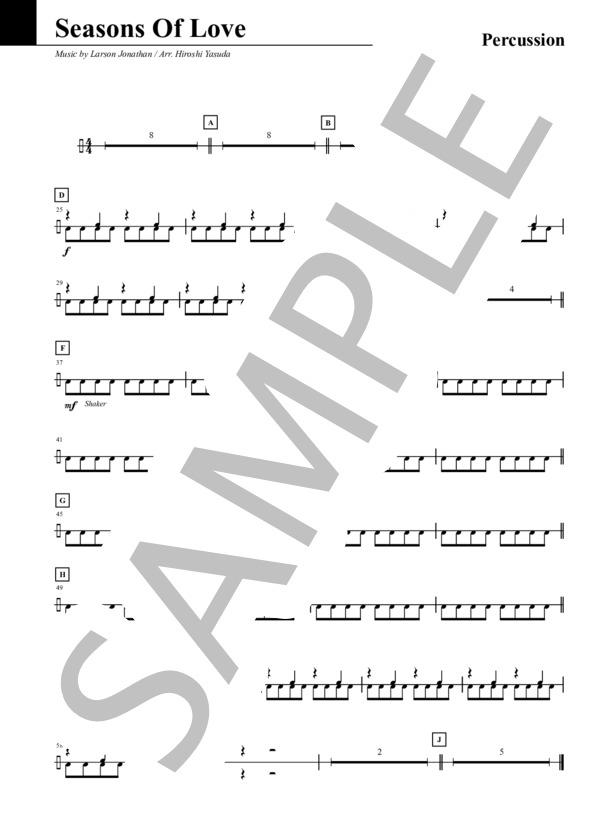 Seasons of love percussion 1