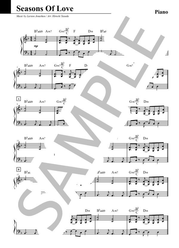 Seasons of love piano 1