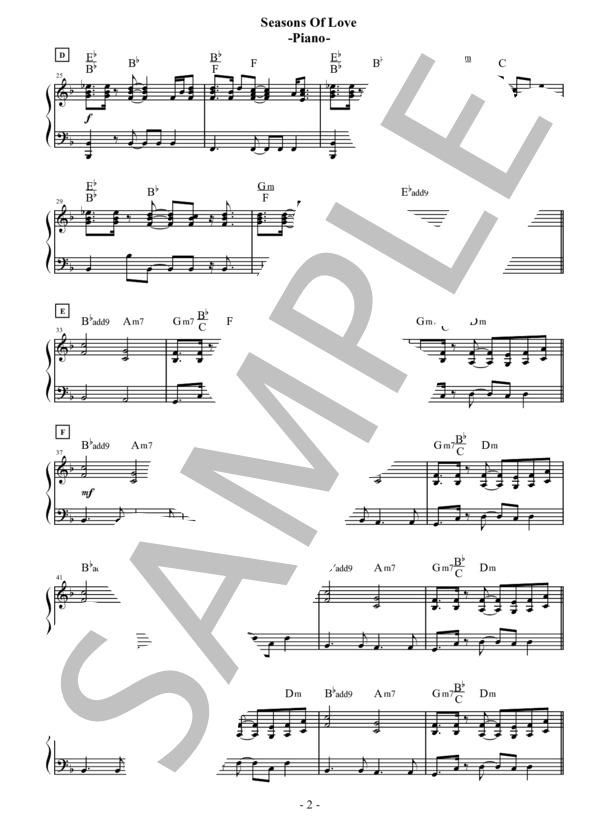 Seasons of love piano 2
