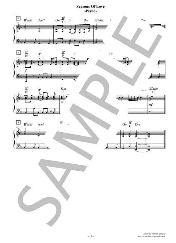 Seasons of love piano 3