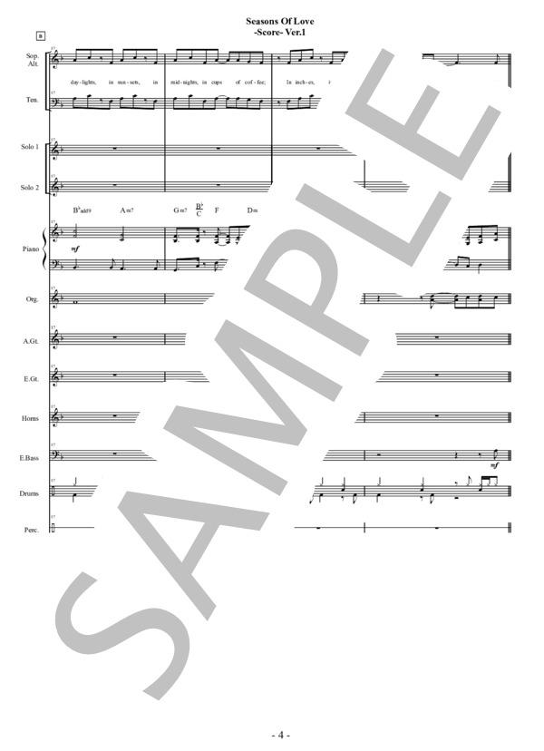 Seasons of love score 4