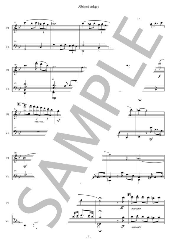 Albinoni adagio fl vc 3
