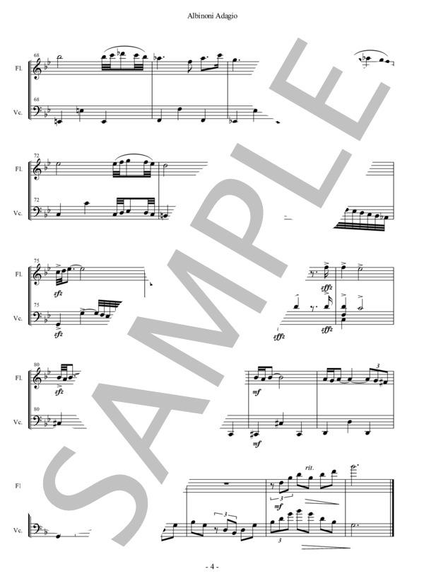 Albinoni adagio fl vc 4