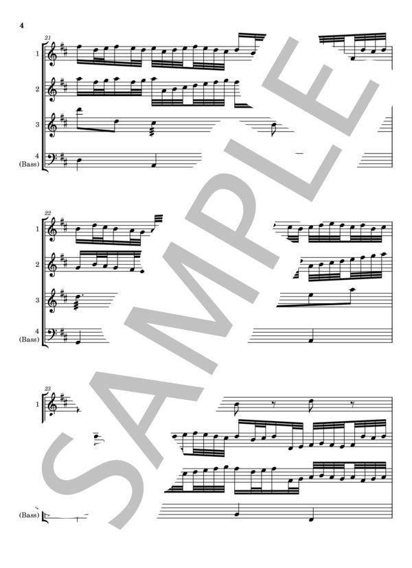 Canon marimba quartet 4