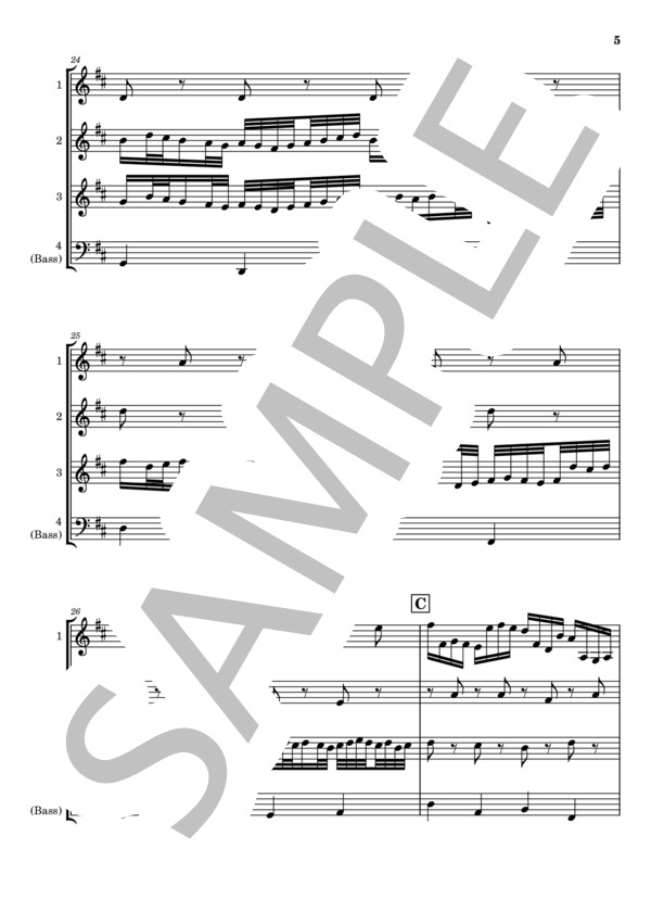 Canon marimba quartet 5
