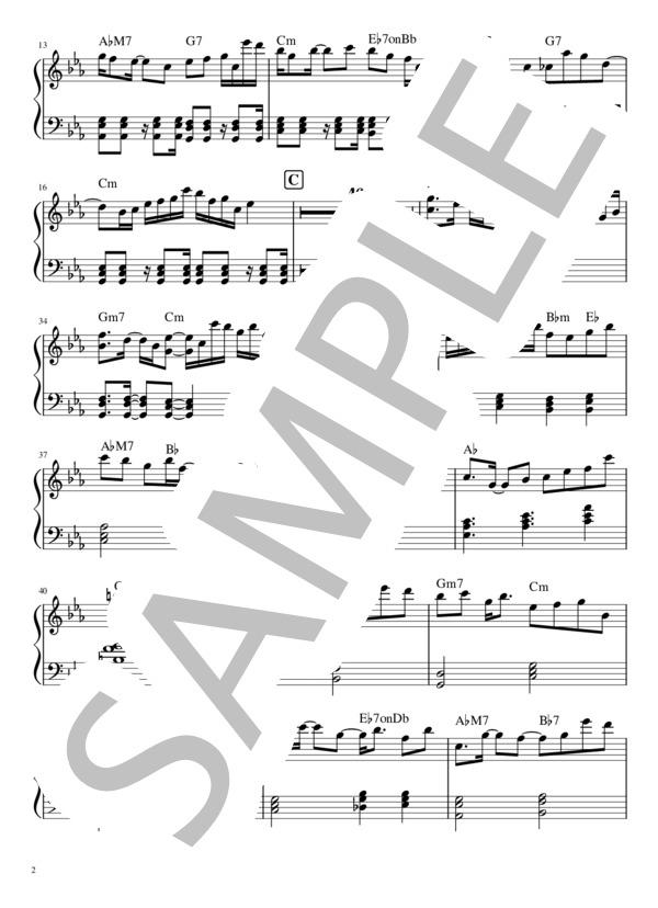 Yoru ni kakeru pianopart 2